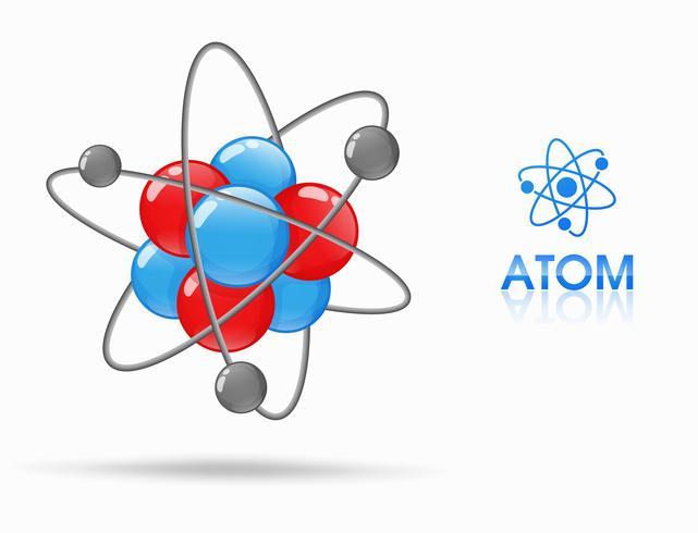 De wetenschap van moleculaire studies van atomen bestaat uit protonen, neutronen en elektronen. Loop rond vector