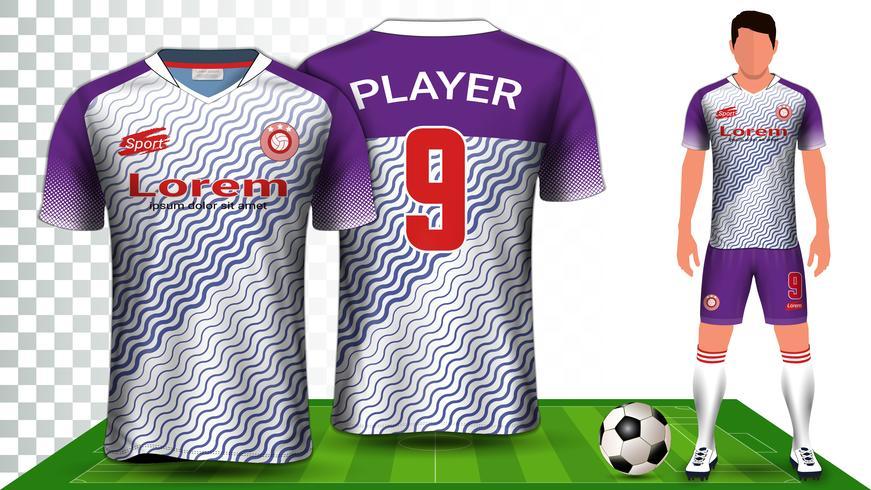 Voetbalshirt, sportshirt of voetbal Kit uniform presentatie mockup sjabloon. vector