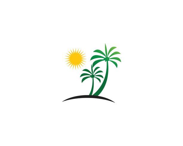 Palm zomer logo sjabloon vector