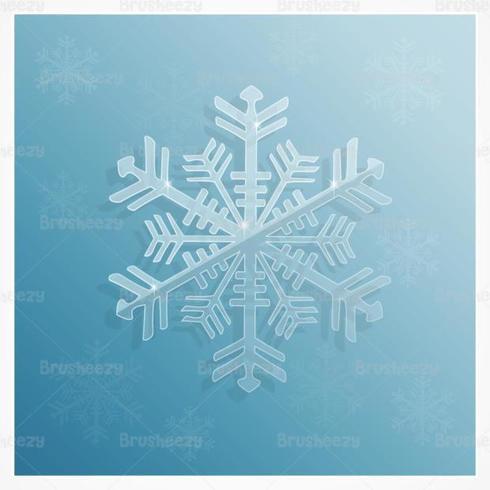 Icy Sneeuwvlok Vector Achtergrond