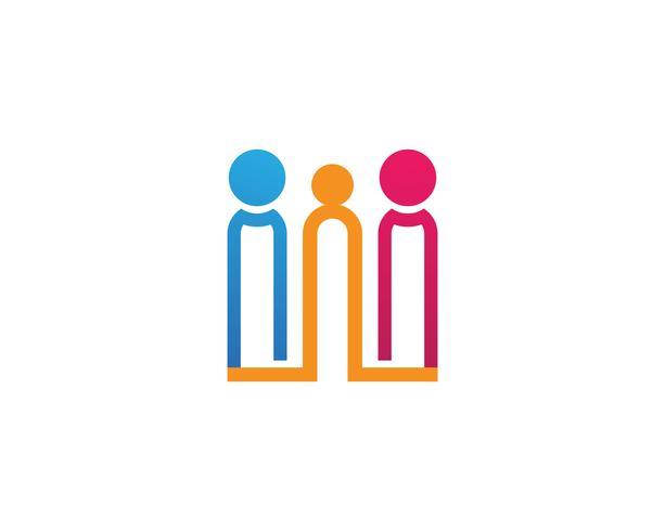 Adoptie en community care Logo sjabloon vector iconen