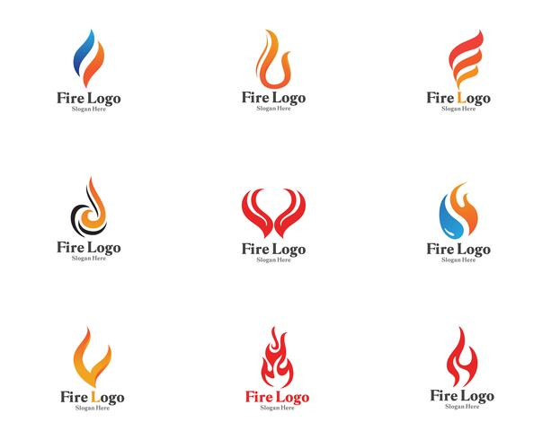 Brand logo symbool gas en olie vector