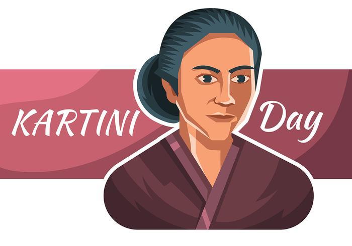 Kartini-dag vector