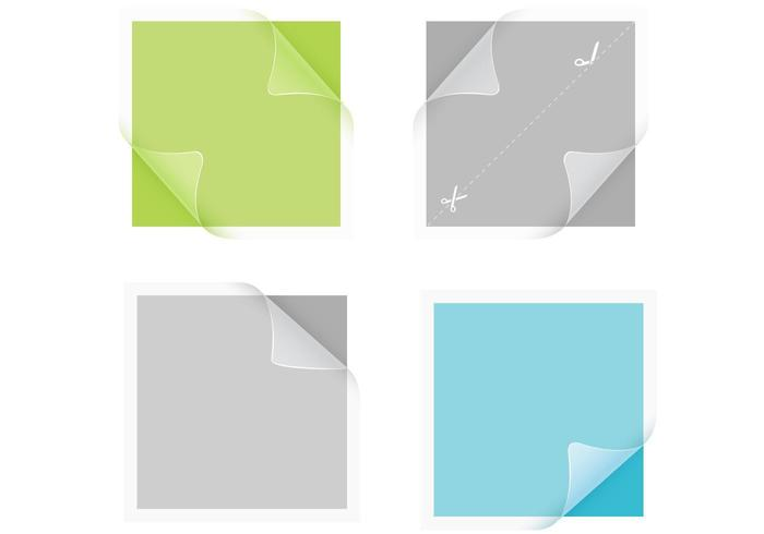 Transparante sticker Vector Pack