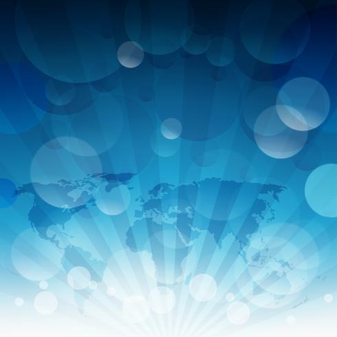Blauwe luchtzon licht burst. Blauwe hemelachtergrond met bokehlichten. vector