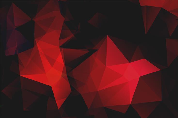 rode veelhoekige vorm achtergrond vector