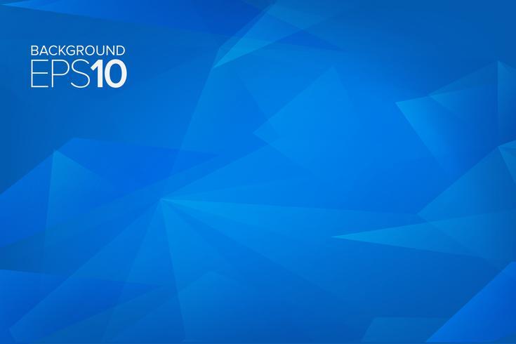 blauwe veelhoekige vormen achtergrond. vector achtergrond
