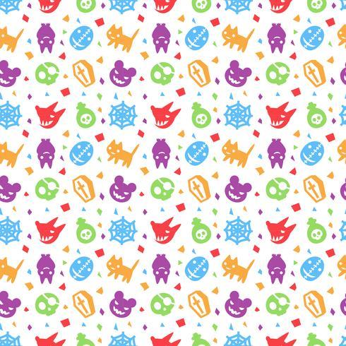 schattig hallowen patroon achtergrond met paarse kleur vector