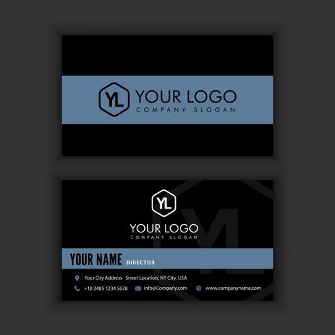 Sjabloon voor modern, creatieve en schone visitekaartjes met donkere kleur vector