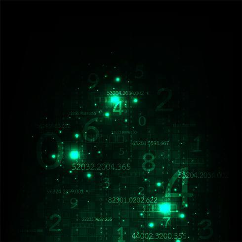 De informatie is overvloedig in digitaal. vector