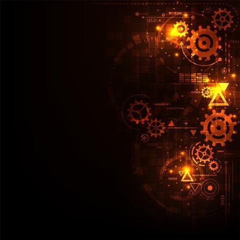 Innovatie van mechanische technologie. vector