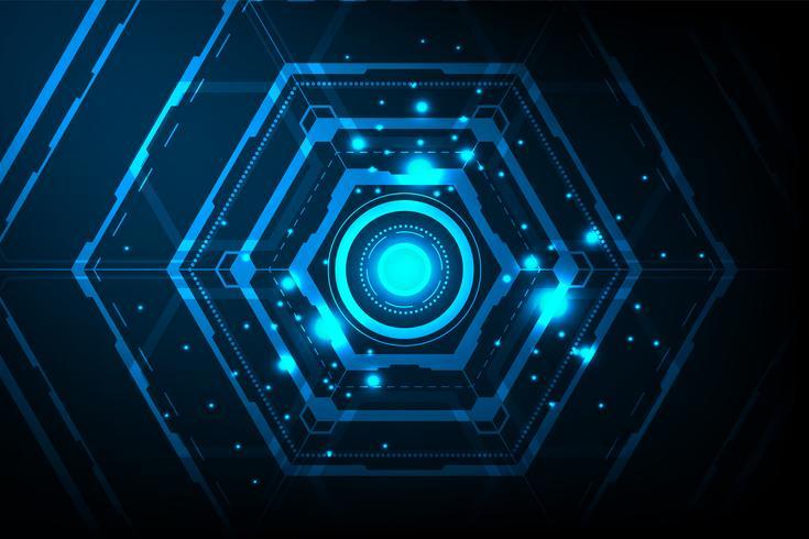 Centrum van complexe digitale systemen. vector