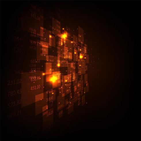 Diverse informatie over de digitale wereld. vector