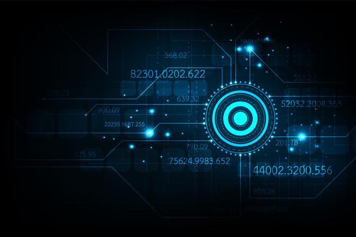 Het centrum van digitaal communicatiesysteem. vector