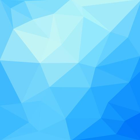 Lage poly abstracte blauwe achtergrond die uit driehoeken bestaat. Vector kunst.