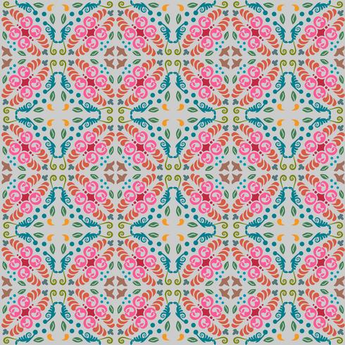 naadloze bloemmotief met vloeiende kleurenachtergrond vector