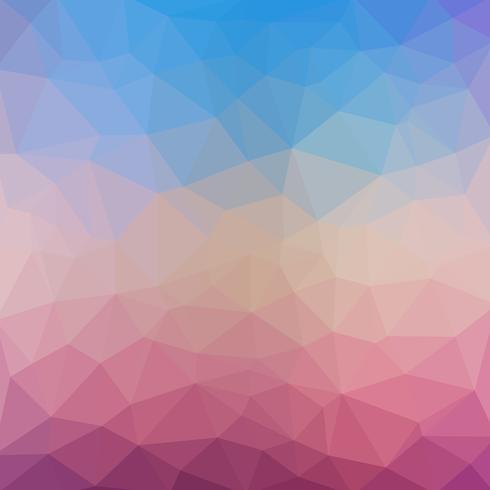 Lichtblauwe paarse vector Lage polykristalachtergrond. Veelhoek ontwerppatroon. Lage polyillustratieachtergrond.