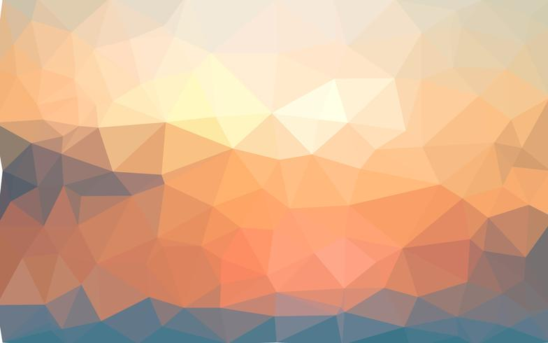Lichtgele zomer vector Laag poly kristal achtergrond. Veelhoek