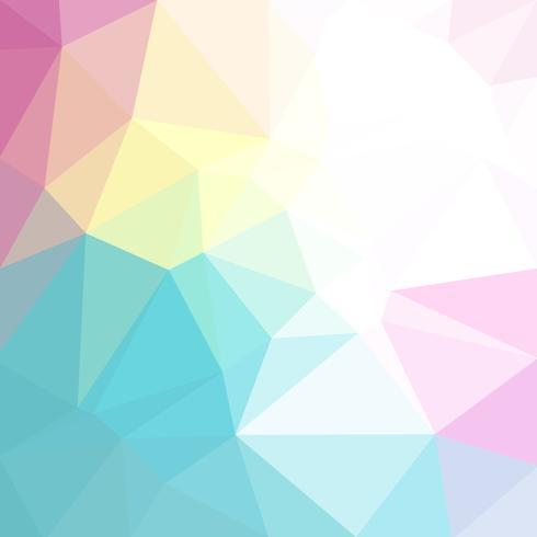 Lichte pastel kleuren vector Lage poly kristallen achtergrond. Veelhoek ontwerppatroon. Lage polyillustratieachtergrond.