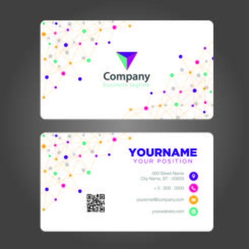 Kleurrijk visitekaartje vector