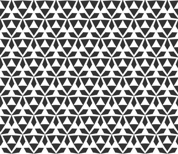 Abstracte meetkundige driehoek Naadloze patroon. Herhalende geometrische zwart-witte textuur. vector