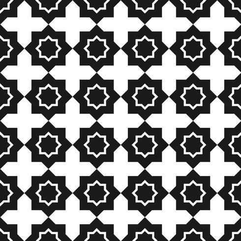 Vector naadloos patroon. Zwart en wit Herhalend geometrisch vierkant patroon