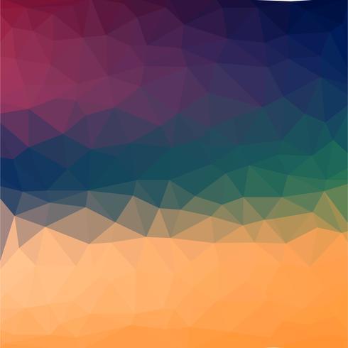 Abstracte kleurrijke retro laag poly Vector achtergrond met coole verloop futuristische patroon.