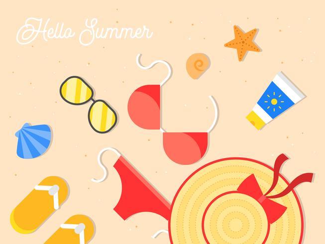 Zomervakantie, zomer strand poster vectorillustratie vector