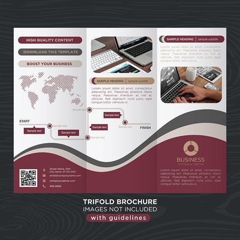 Trifold Business Fold-brochure vector