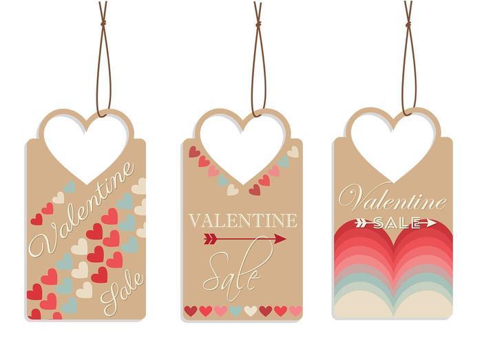 Valentijnsdag Tag Vector Pack