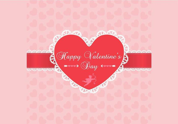 Lace Valentijnsdag achtergrond Vector