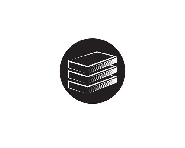 Boek lezen logo en symbolen sjabloon pictogrammen vector