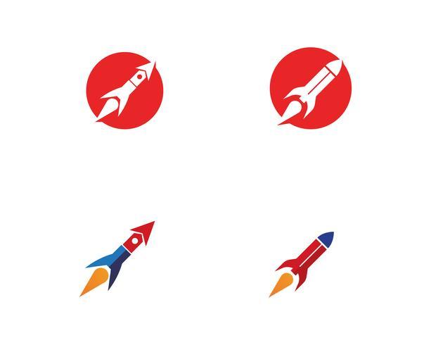Raket illustratie logo vector pictogrammalplaatje