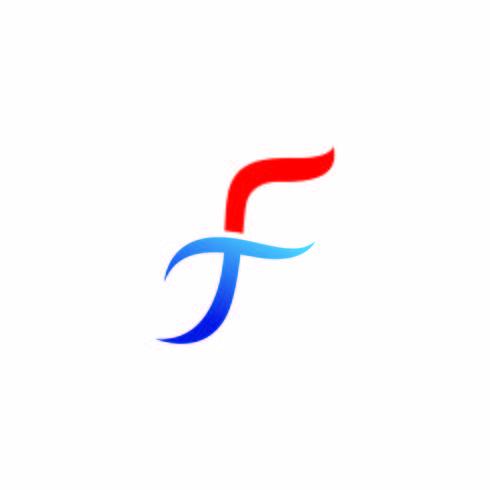 F Letter vector pictogram