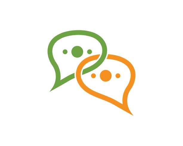 Toespraak bubble chat pictogram Logo sjabloon vector