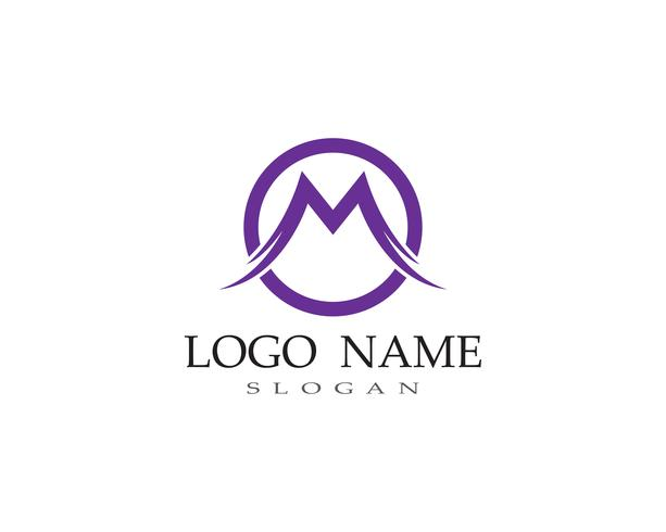 M Brief Logo Business Template Vector