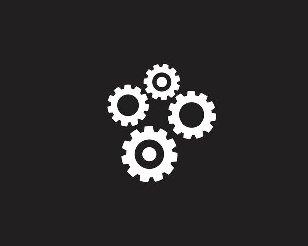 Versnelling Logo sjabloon vector pictogram