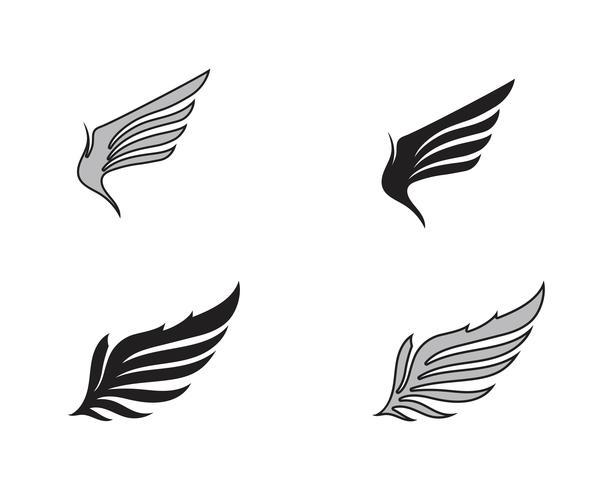 Wing falcon bird-logo vector