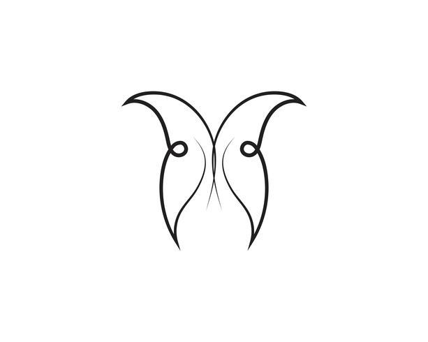 Schoonheid vlinder pictogram ontwerp vector