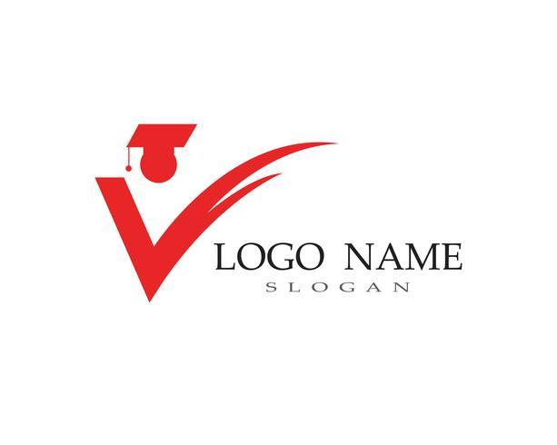 Onderwijs mensen succes logo en symbool vector