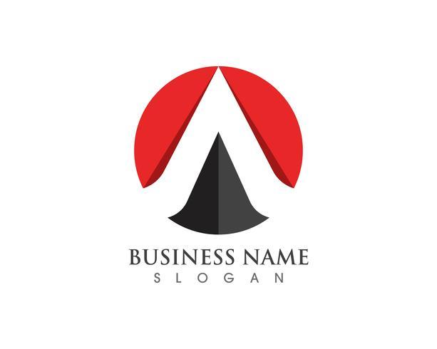 Een brief Logo Business Template Vector