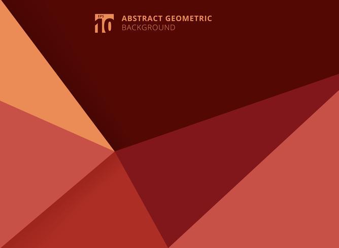 Abstracte sjabloon geometrische driehoeken rode achtergrond. vector