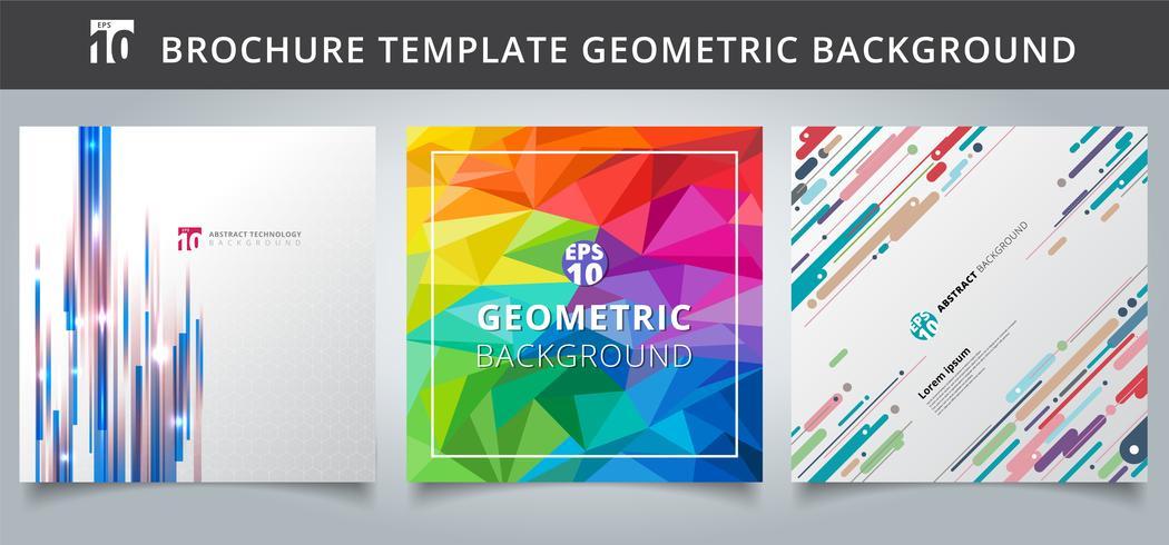 Ontwerp van geometrie voor geometrische sjablonen instellen. vector