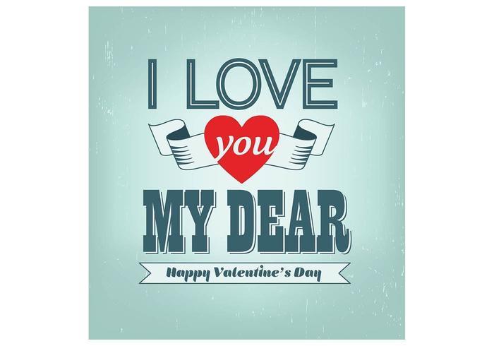 Hou van je Beste Valentijnsdag Vector