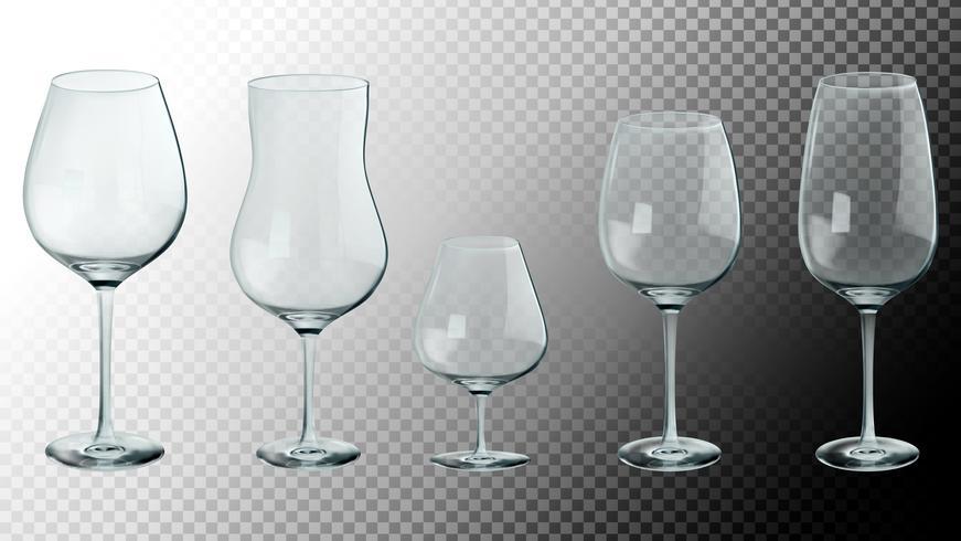 Set van realistische glazen. 3D-vectorillustratie vector