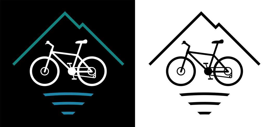 Mountain Bike Logo Vector Illustratie
