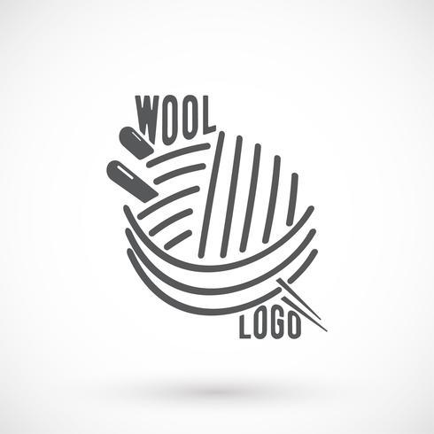 Wol en naaldsymbool vector