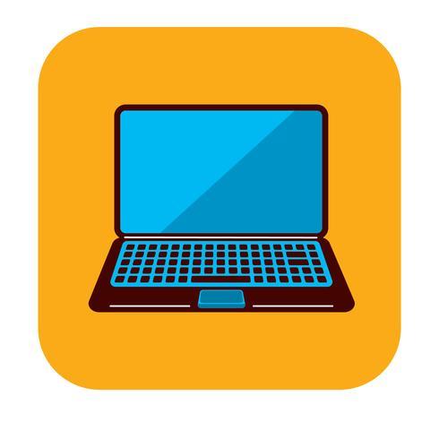 Laptop gratis logo sjabloon vector