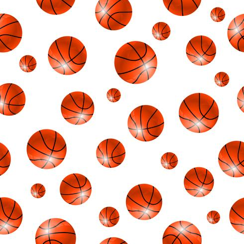 Baskettball bal naadloze achtergrond vector