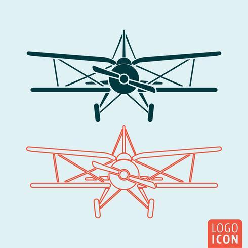 Oud vliegtuigpictogram vector